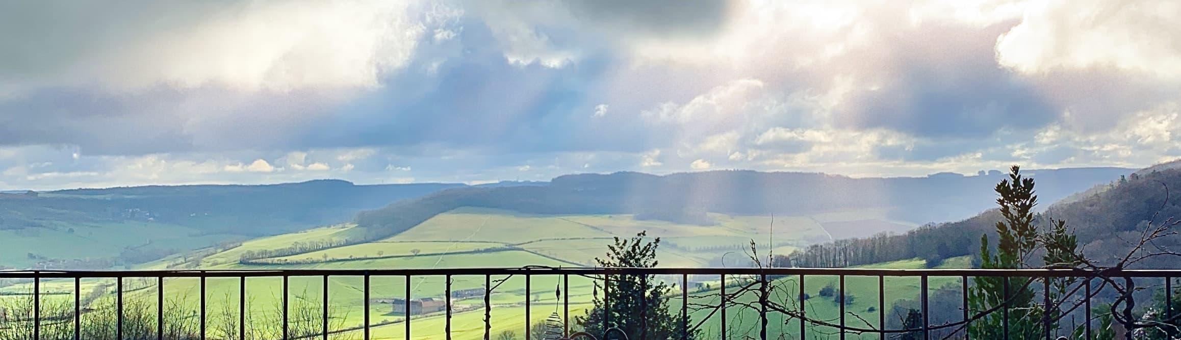 Point de vue de notre terrasse en Hiver de 2020